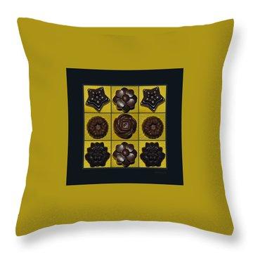 Homemade Pralines Throw Pillow by Marija Djedovic