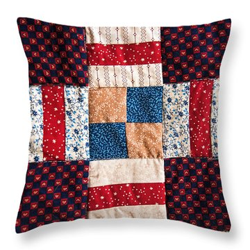 Homemade Quilt Throw Pillow