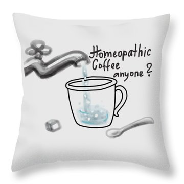 Homeopathic Coffee Throw Pillow