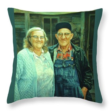 Homer And Oki Throw Pillow