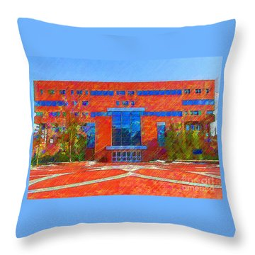 Homer Library Throw Pillow