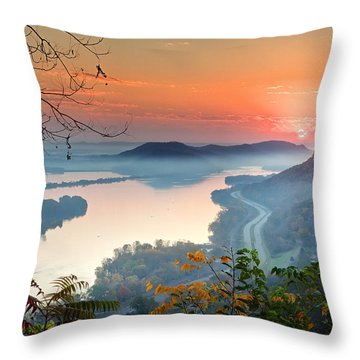Homer Sunrise Throw Pillow