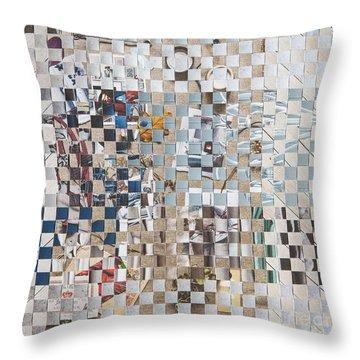 Throw Pillow featuring the mixed media Homespun by Jan Bickerton