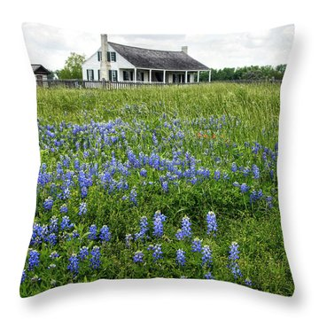 Homestead In East Texas Throw Pillow