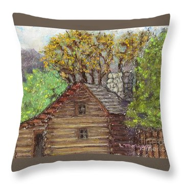 Homestead Throw Pillow by Laurie Morgan