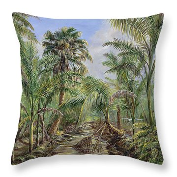 Homestead Tree Farm Throw Pillow