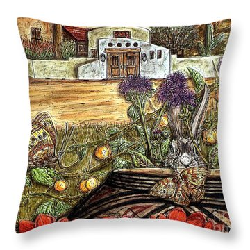 Homesteading Throw Pillow