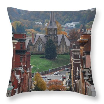 My Hometown Cumberland, Maryland Throw Pillow by Eric Liller
