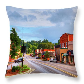 Hometown America Throw Pillow