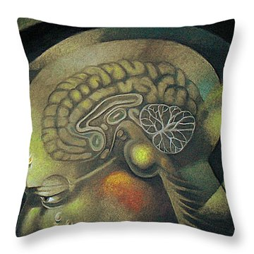 The Anxiety Of Knowledge Throw Pillow