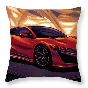 Honda Acura Nsx 2016 Mixed Media Throw Pillow