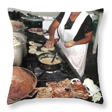 Throw Pillow featuring the photograph Honduras Cooking by Beauty For God