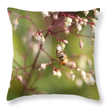 Honey Acrobat Throw Pillow