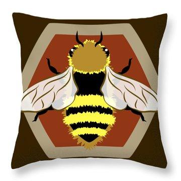 Honey Bee Graphic Throw Pillow