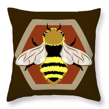 Honey Bee Graphic Throw Pillow
