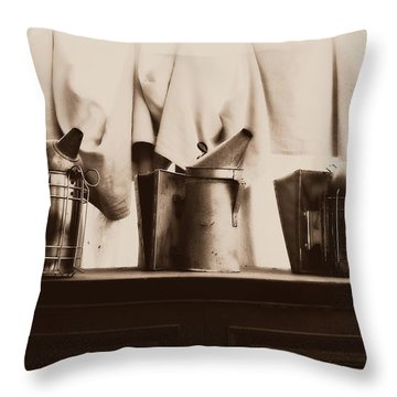 Honeybee Smokers Throw Pillow