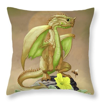 Throw Pillow featuring the digital art Honey Dew Dragon by Stanley Morrison