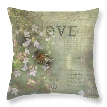 Honey Love Throw Pillow