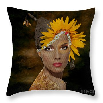 Throw Pillow featuring the digital art Honey by Nola Lee Kelsey