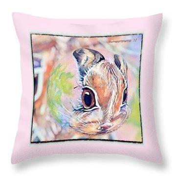 Honey Of A Bunny Throw Pillow