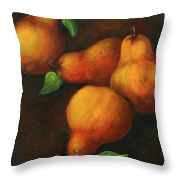 Honey Pears Throw Pillow
