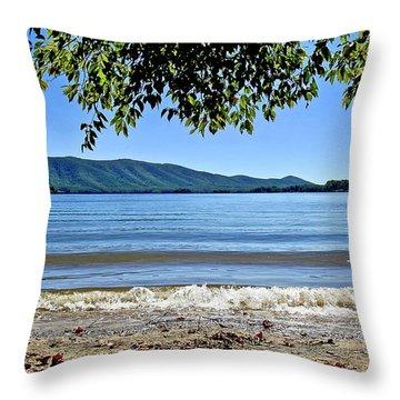Honey Suckel Cove, Smith Mountain Lake Throw Pillow