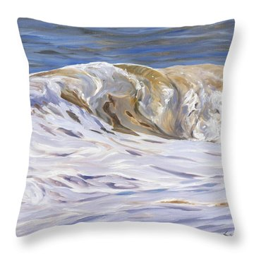 Throw Pillow featuring the painting Honey Wave by Lawrence Dyer
