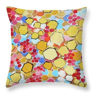 Honeycomb 201755 Throw Pillow by Alyse Radenovic