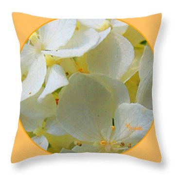 Honeysuckle Blossoms Throw Pillow
