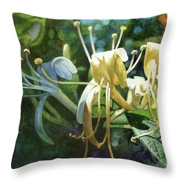 Honeysuckle Sun Throw Pillow