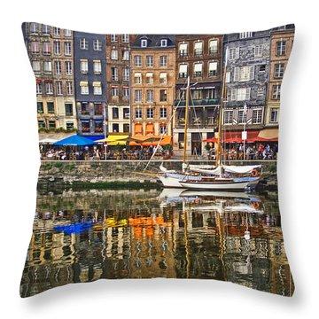 Honfleur France Throw Pillow by Ann Garrett