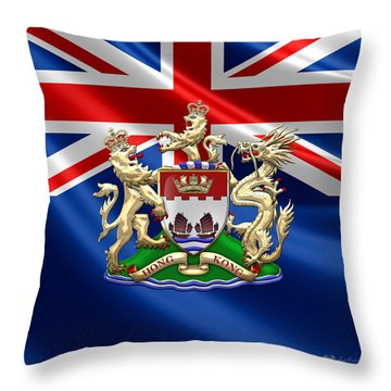 Hong Kong - 1959-1997 Coat Of Arms  Throw Pillow