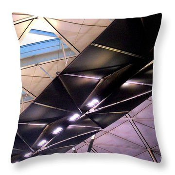 Throw Pillow featuring the photograph Hong Kong Airport by Randall Weidner