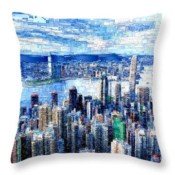 Hong Kong, China Throw Pillow