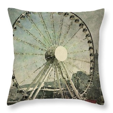Hong Kong Eye Throw Pillow