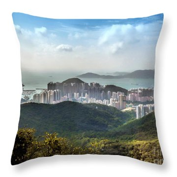 Hong Kong From Victoria Peak Throw Pillow
