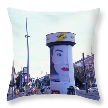 Hong Kong In Berlin Throw Pillow