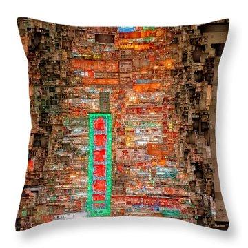 Hong Kong -yaumatei Throw Pillow