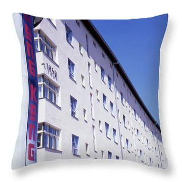Honk Kong And Building In Berlin Throw Pillow