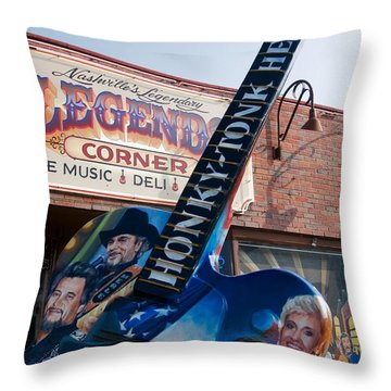Throw Pillow featuring the photograph Honky Tonk Heroes Nashville by Bob Pardue