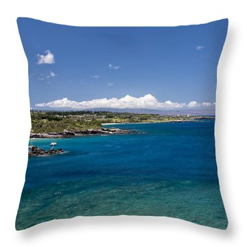 Throw Pillow featuring the photograph Honolua Bay by Jim Thompson