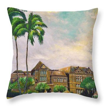 Honolulu Bishop Museum Throw Pillow