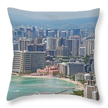 Honolulu Hawaii  Throw Pillow