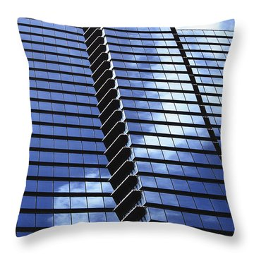 Honolulu Skyscraper Throw Pillow by Brandon Tabiolo - Printscapes
