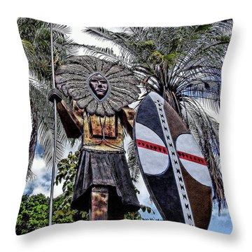 Honolulu Zoo Keeper Throw Pillow