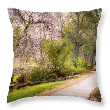 Throw Pillow featuring the photograph Honor Heights Pathway by James Barber