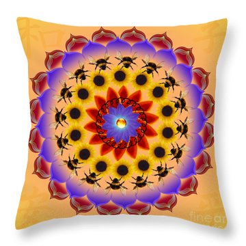 Honor The Bees Throw Pillow by Elizabeth Alexander