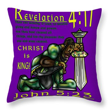 Honor The Father And Son O Israel Throw Pillow