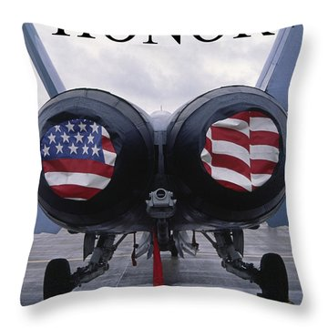 Honor The Flag Throw Pillow