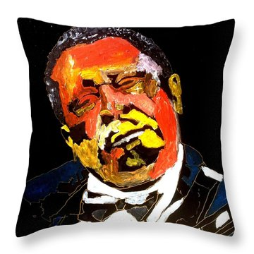 Honoring Bb King Throw Pillow